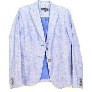 Talbots Jackets & Coats - Talbots jacket blazer SZ 4 blue 100% linen long sl